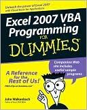 Jan Karel Pieterse: Excel 2007 VBA Programming For Dummies
